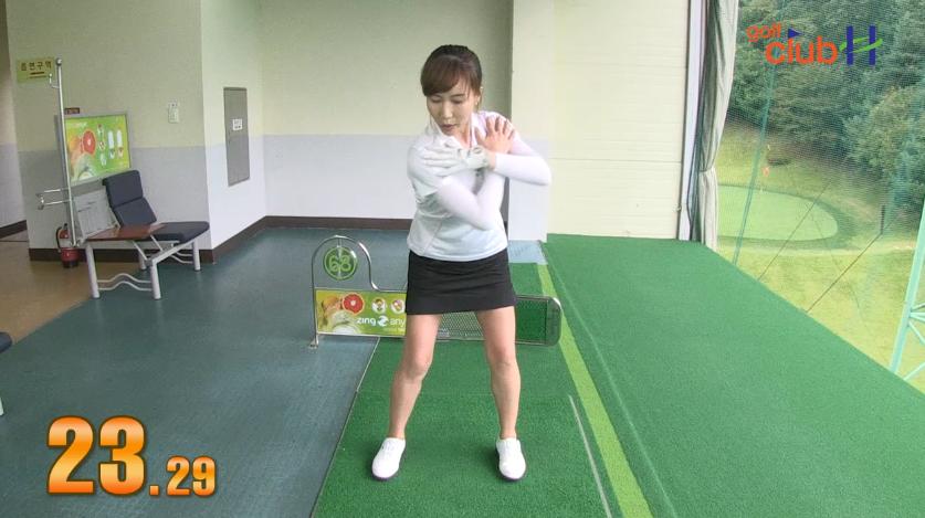 [1분레슨] 스윙에 효과적인 바디턴 연습 l 백신애프로