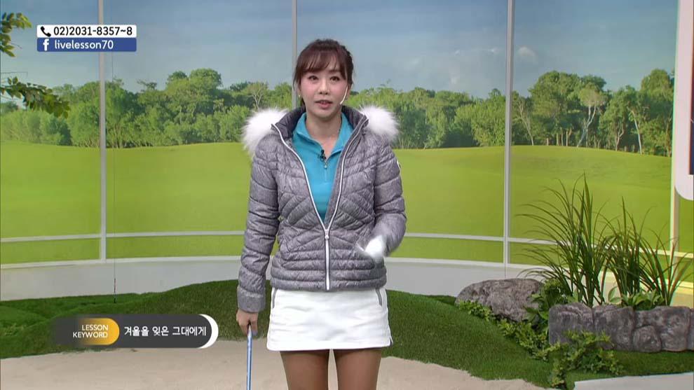 겨울철 골프 백스윙~