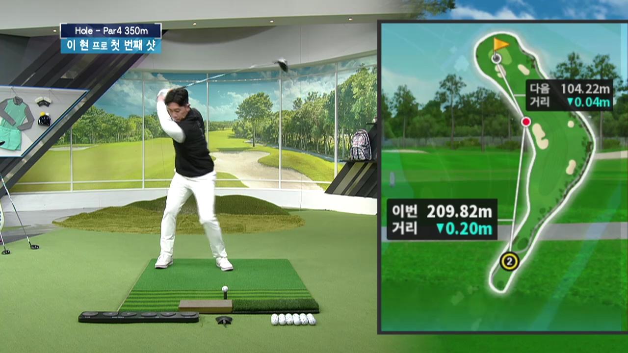 프로들의 스크린 골프를 통한 코스 공략 배우기#1